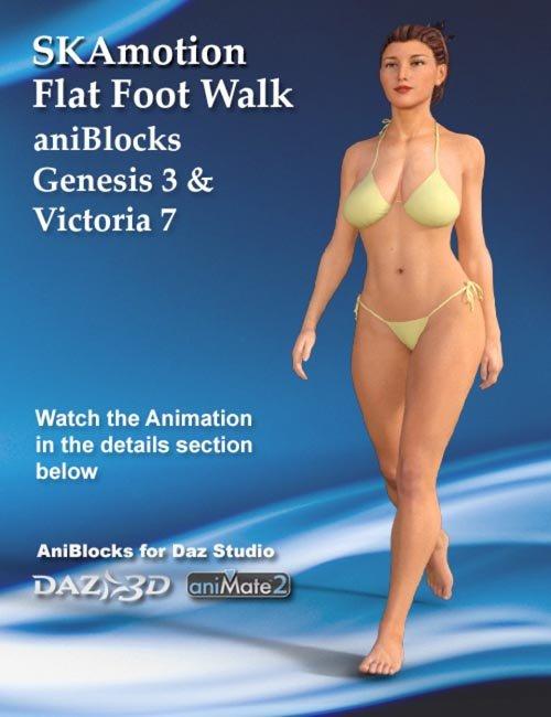 Genesis 3 Female(s) & Victoria 7 Flat Foot Walk aniBlock