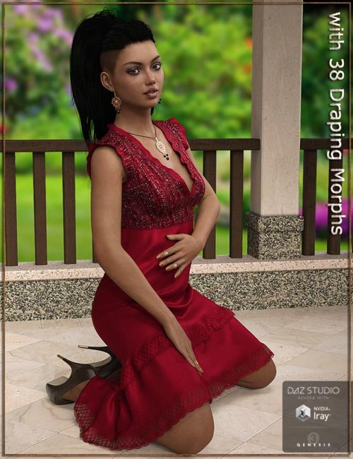 Melanie Dress for Genesis 3 Female(s)