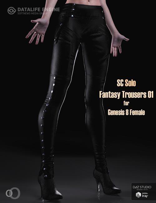 SC Solo Fantasy Trousers 01 for Genesis 8 female