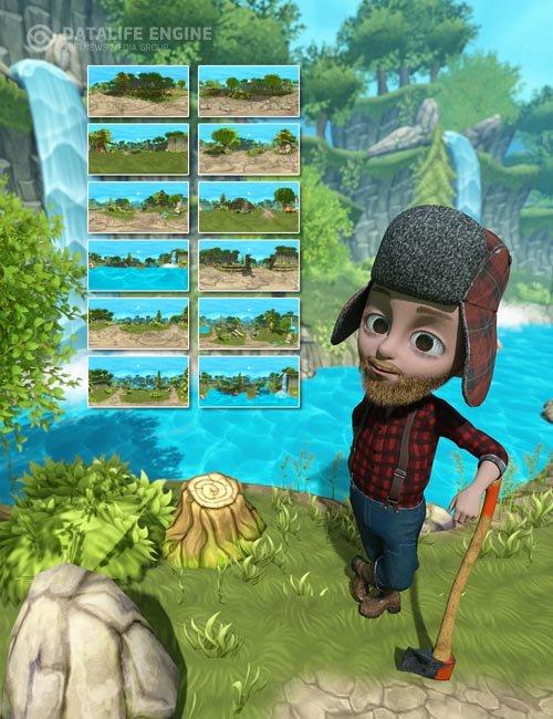 Toon IBL - Cartoon Forest HDRI