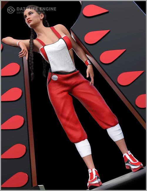 dForce Street Overalls Outfit for Genesis 8 Females