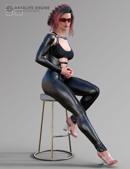 Elegant Skinny Jumpsuit for Genesis 8 Female(s)