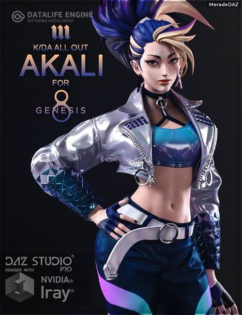 Akali KDA ALL OUT for Genesis 8 and 8.1 Female