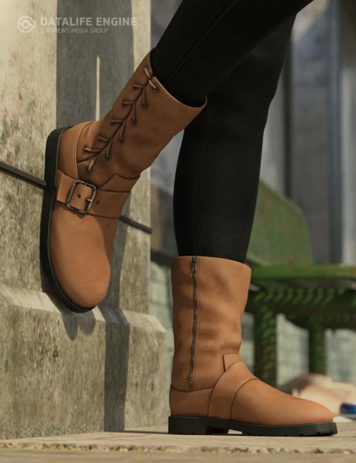 Side Laced Boots for Genesis 8 Female