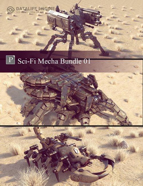Sci-Fi Mecha Bundle 01
