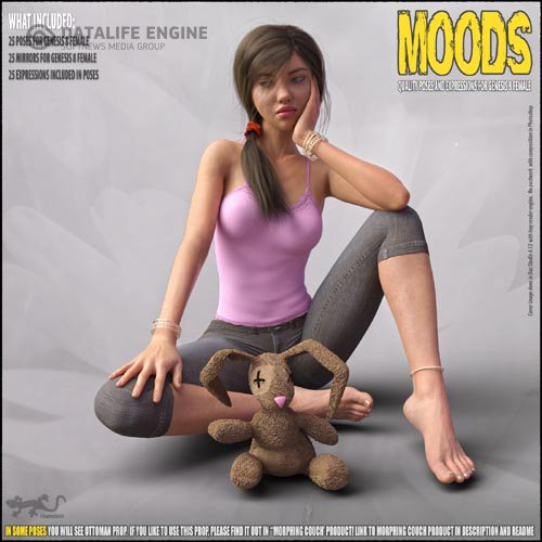 Moods - Poses for Genesis 8