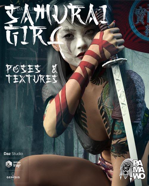 Samurai Girl Poses & Textures for GF8