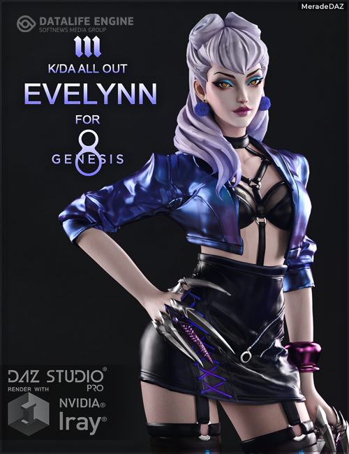 Evelynn KDA ALL OUT for Genesis 8 and 8.1 Female