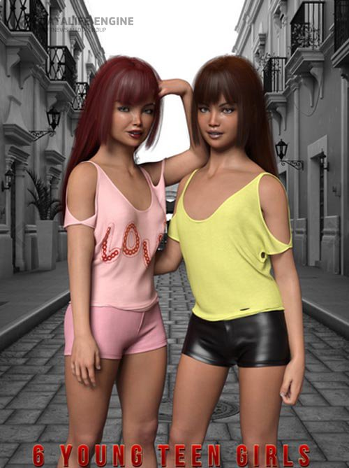 6 Young Teen Girl Character Morphs For G8F Vol 1