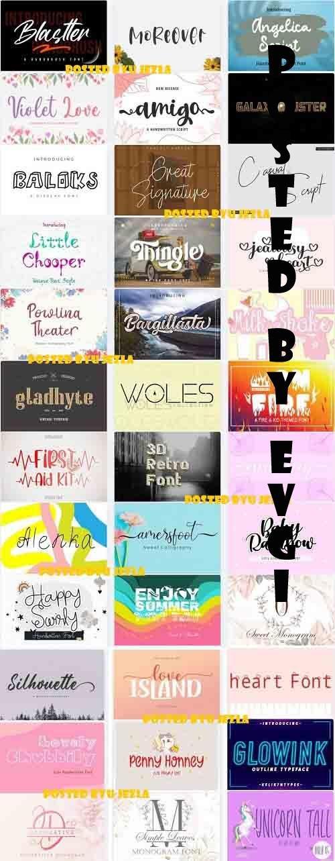 Mix Font Bundle 57 - 36 Premium Fonts